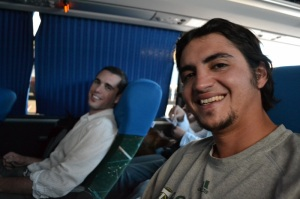 Mike and Adam on one of our many bus rides to Iguazu.