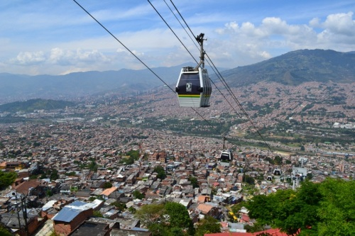Metrocable gondola in Medellin