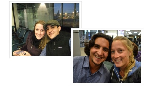 January 15, 2012 - On our way to Spain (photo on left)March 19, 2013 - Back in the USA (photo on right)