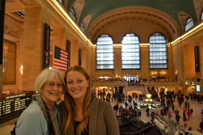 Amy & Mom at Grand Central Terminal, NYC