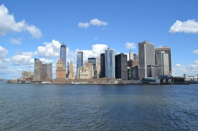 Downtown view from Staten Island Ferry